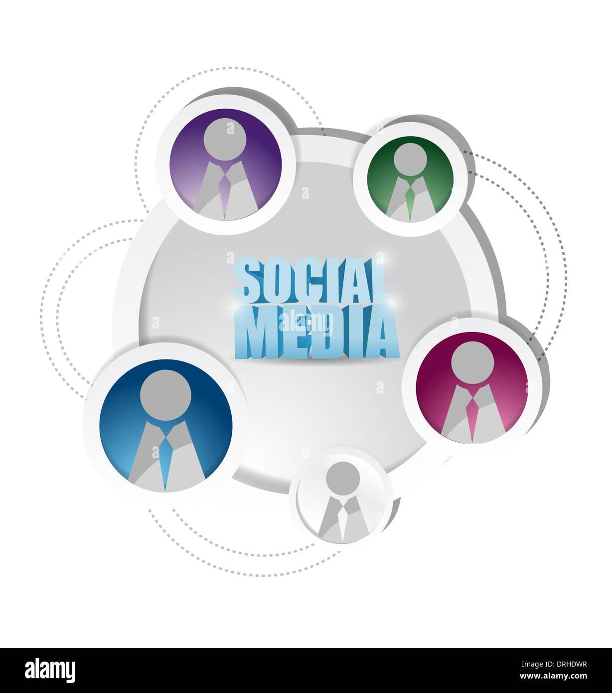 3d Network Team Orange Pink Green Social Connect Stock Photos 3d