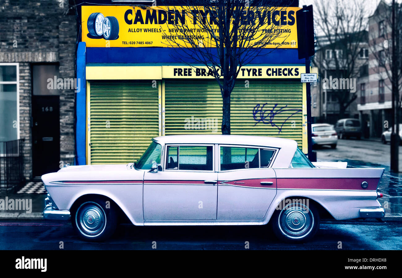 AMC Rambler automobile parked in Camden Town London UK - Stock Image