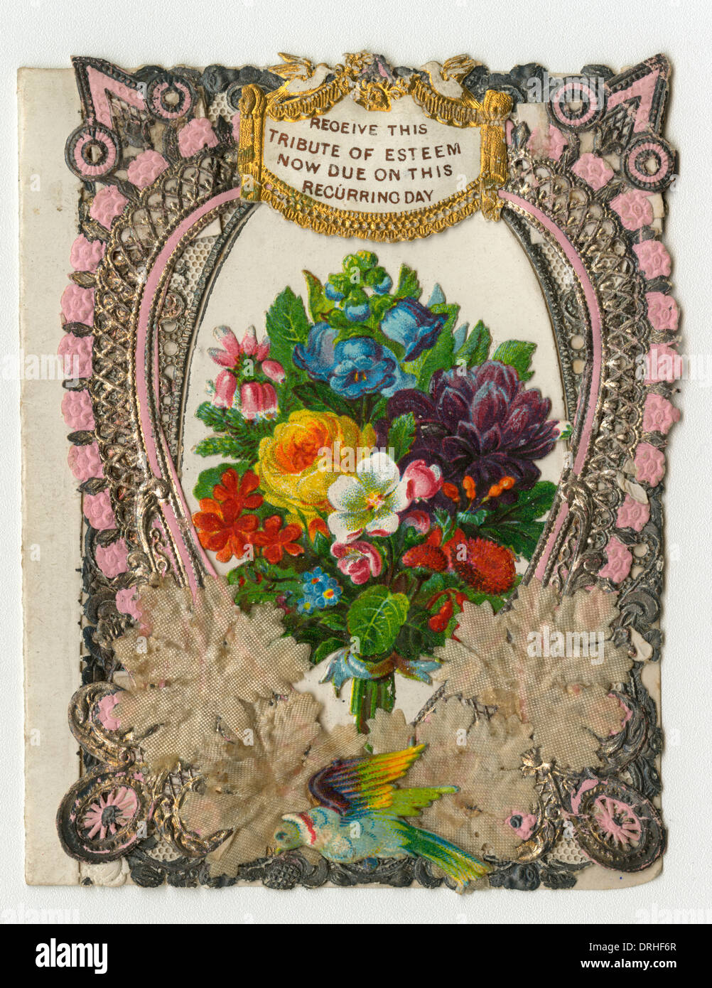 Early Greetings Card (Victorian) - Stock Image