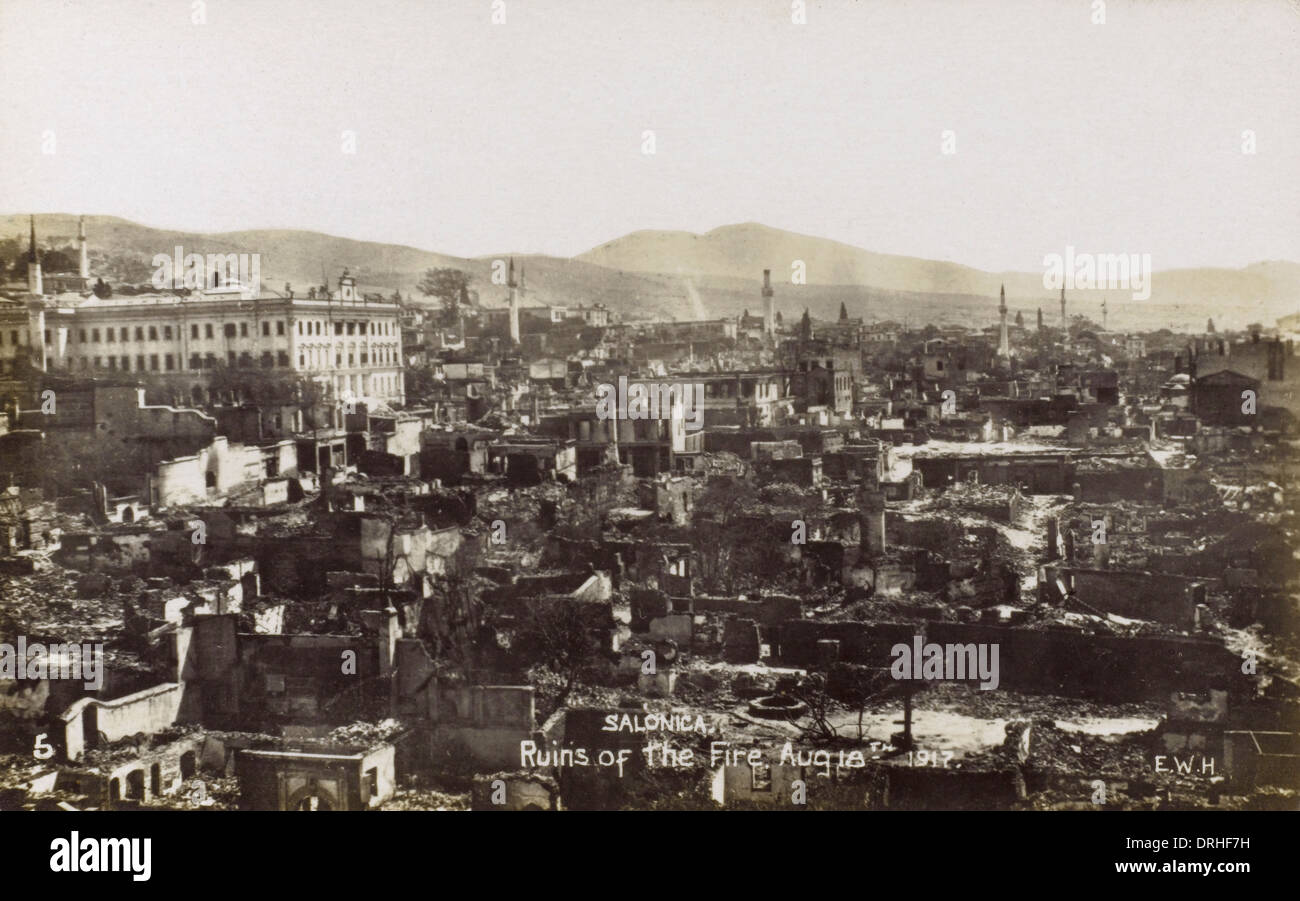 Fire at Thessaloniki - Aftermath of the Fire (3/3) - Stock Image