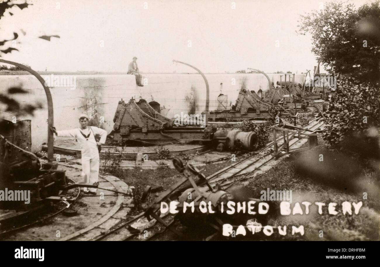 Georgia - Batumi - Demolished Artillery Battery - Stock Image