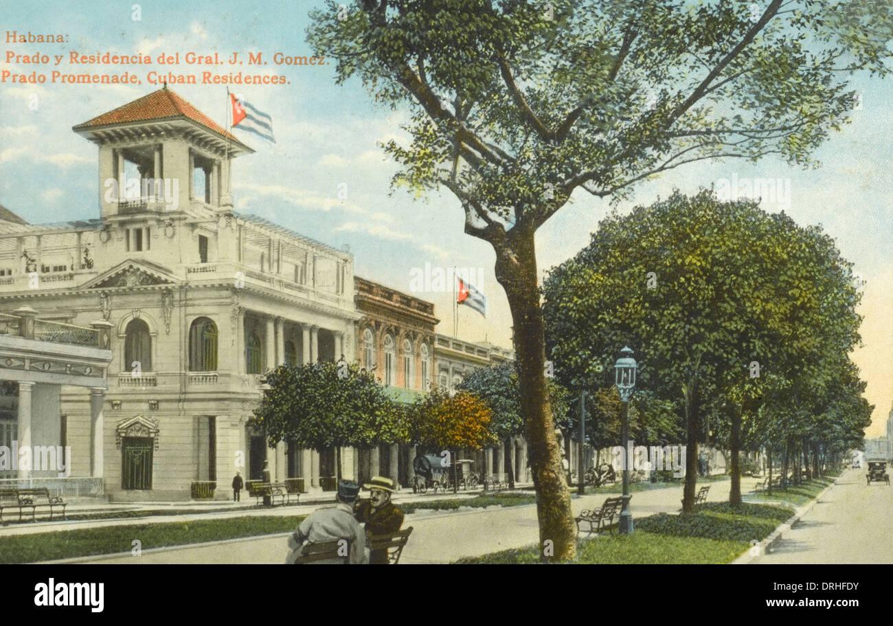 Havana, Cuba, Residence of Genral J. M. Gomez - Stock Image