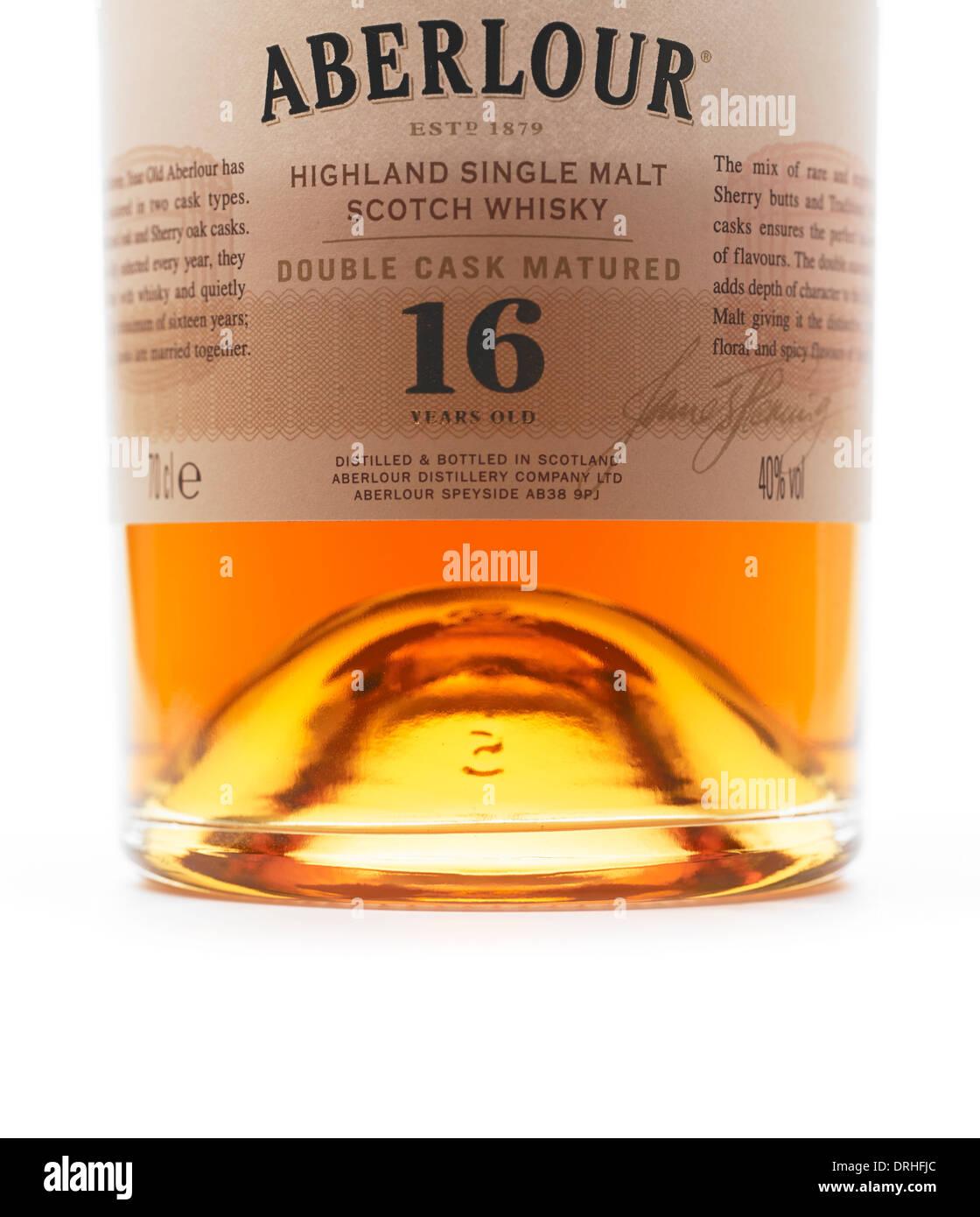Aberlour 16 years old Scotch Whisky bottle - Stock Image