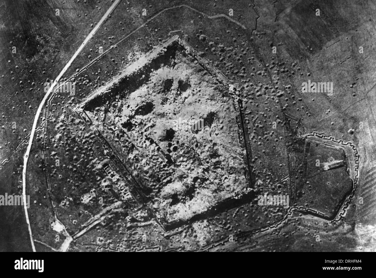 Aerial photograph of Mainvilliers Fort, France, WW1 - Stock Image