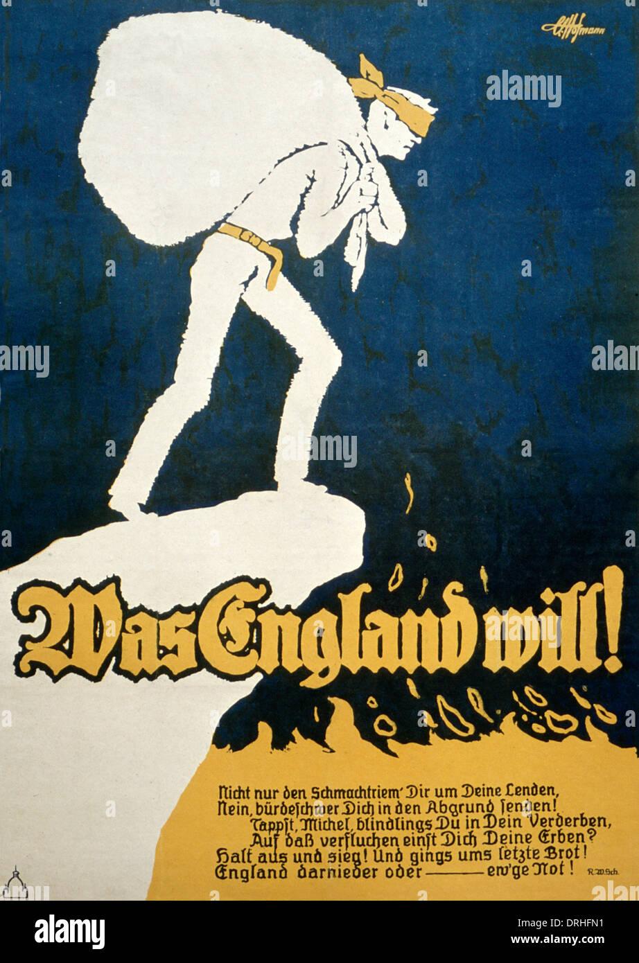 Vintage WW2 German Licht Dein Tod Military Poster