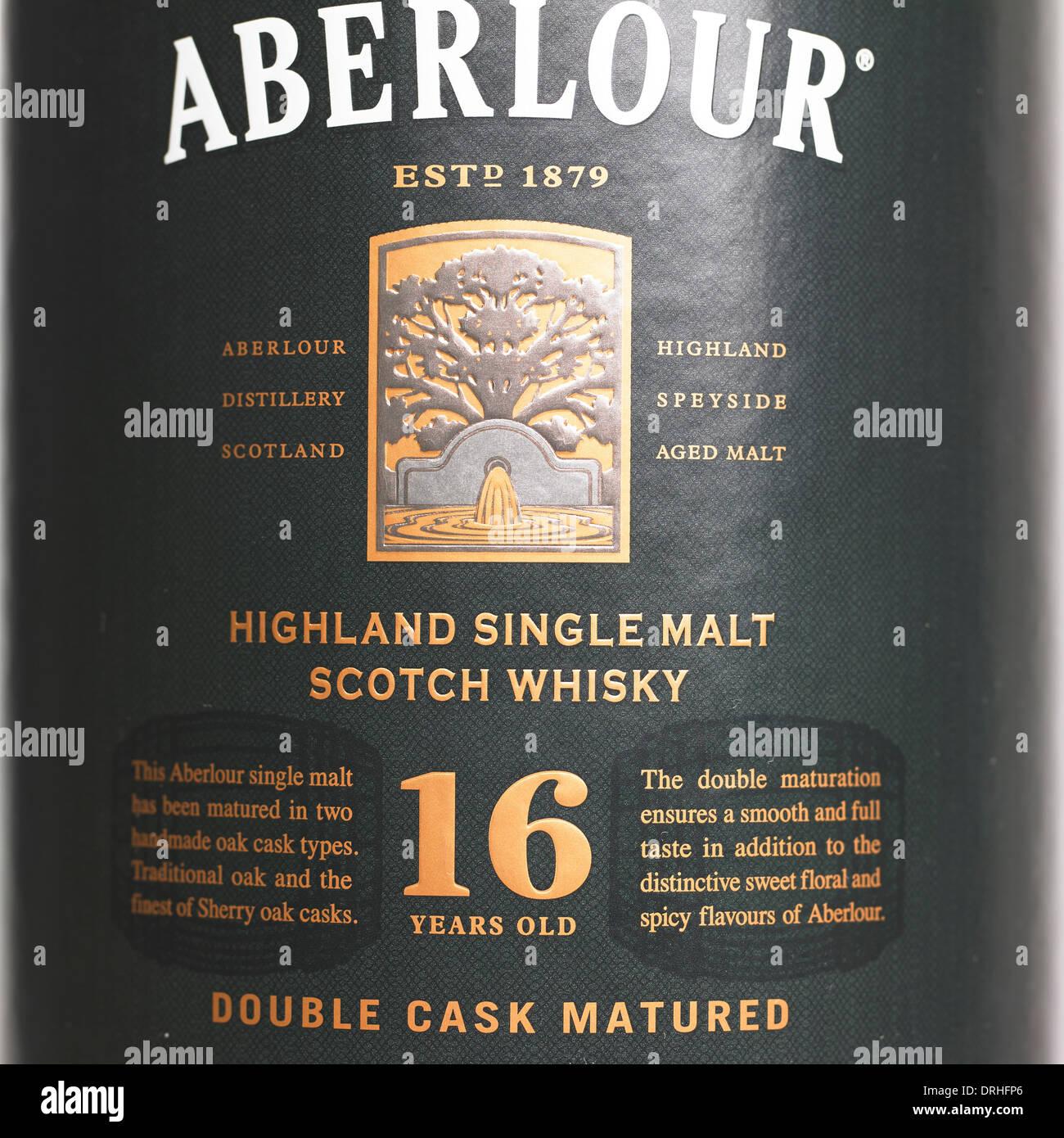 Aberlour 16 years old Scotch Whisky carton - Stock Image