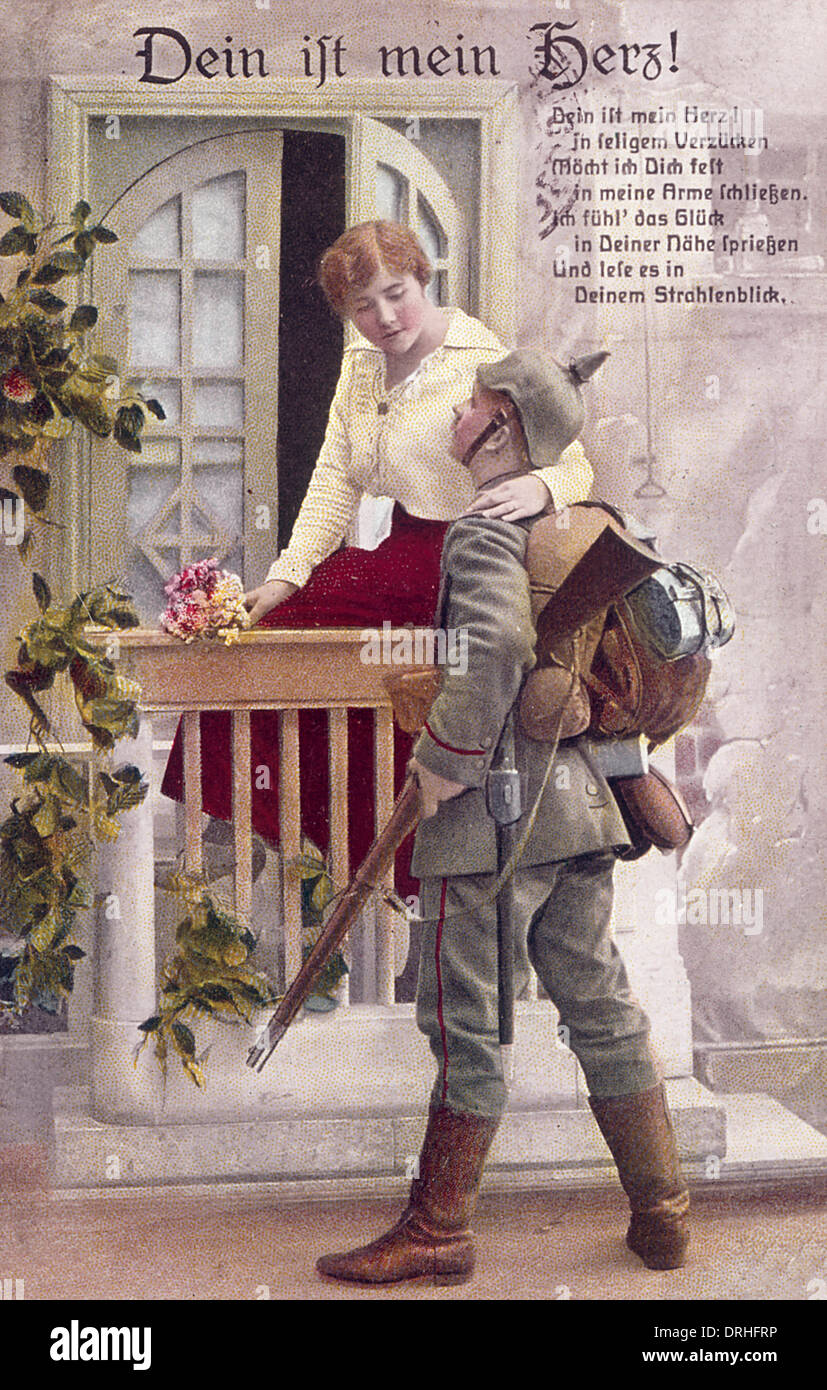 German Soldier First World War Uniform Stock Photos & German