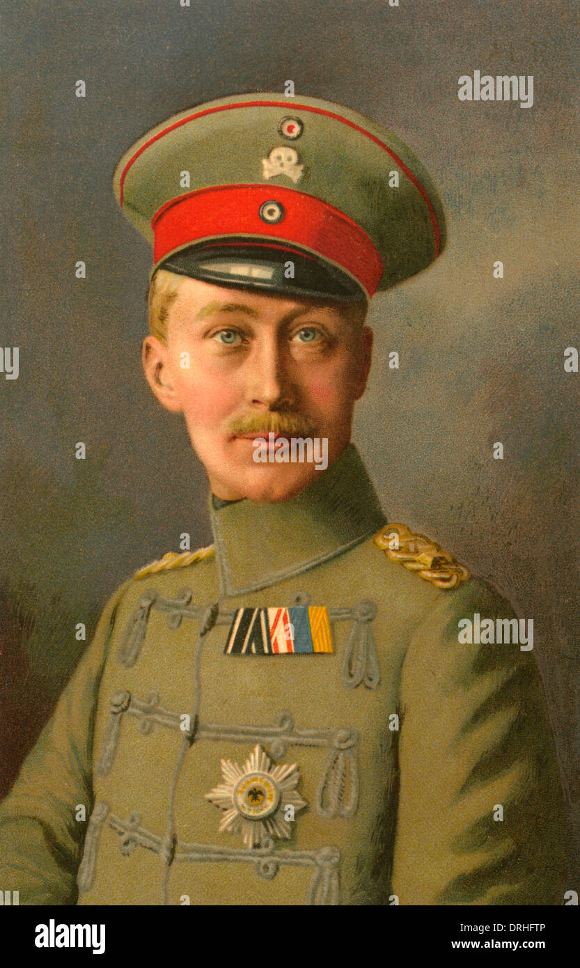 Crown Prince Wilhelm of Germany, WW1 Stock Photo: 66153830 - Alamy