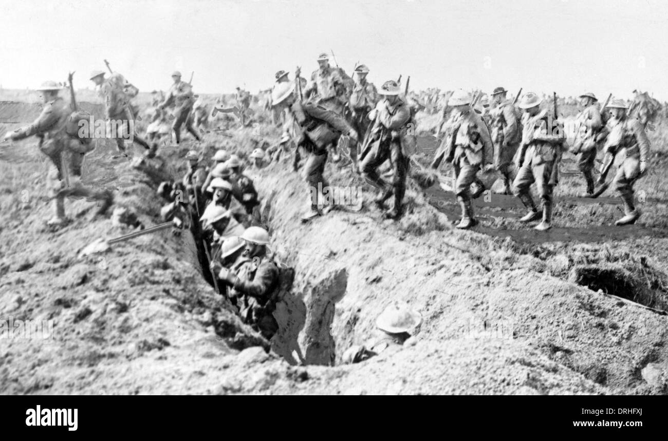 British soldiers on the Western Front, WW1 - Stock Image
