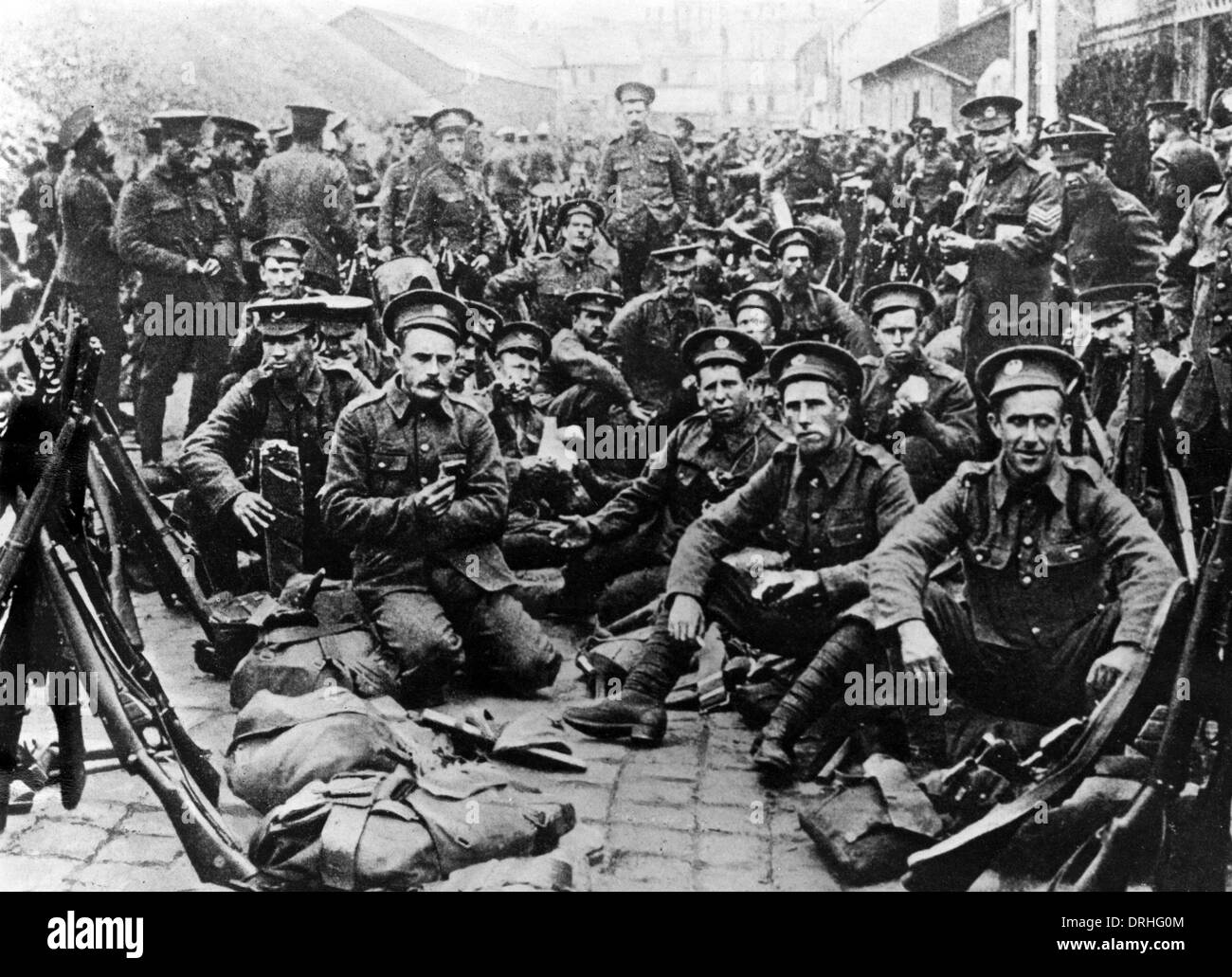 Group photo, British soldiers, WW1 - Stock Image