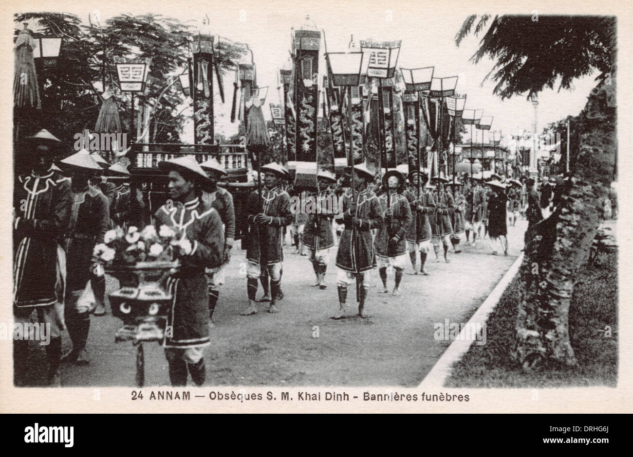 Funeral of Vietnamese Emperor Khai Dinh - procession - Stock Image