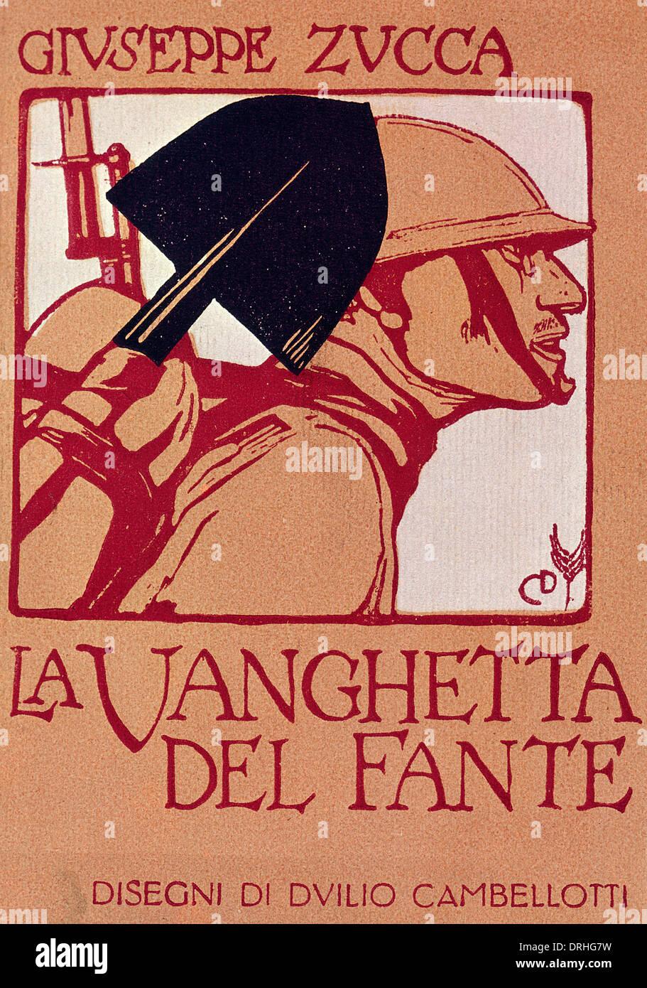 Book cover design, La Vanghetta del Fante - Stock Image