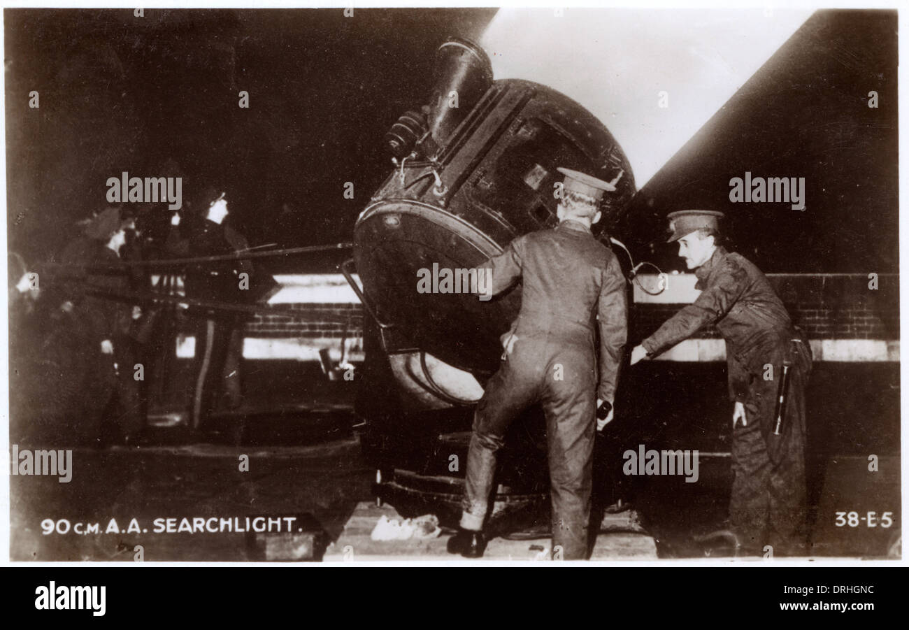 WW2 - 90cm A.A. Searchlight - Stock Image