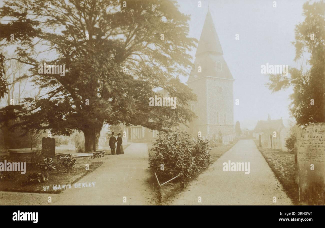 St Marys Church, Bexley, Kent - Stock Image