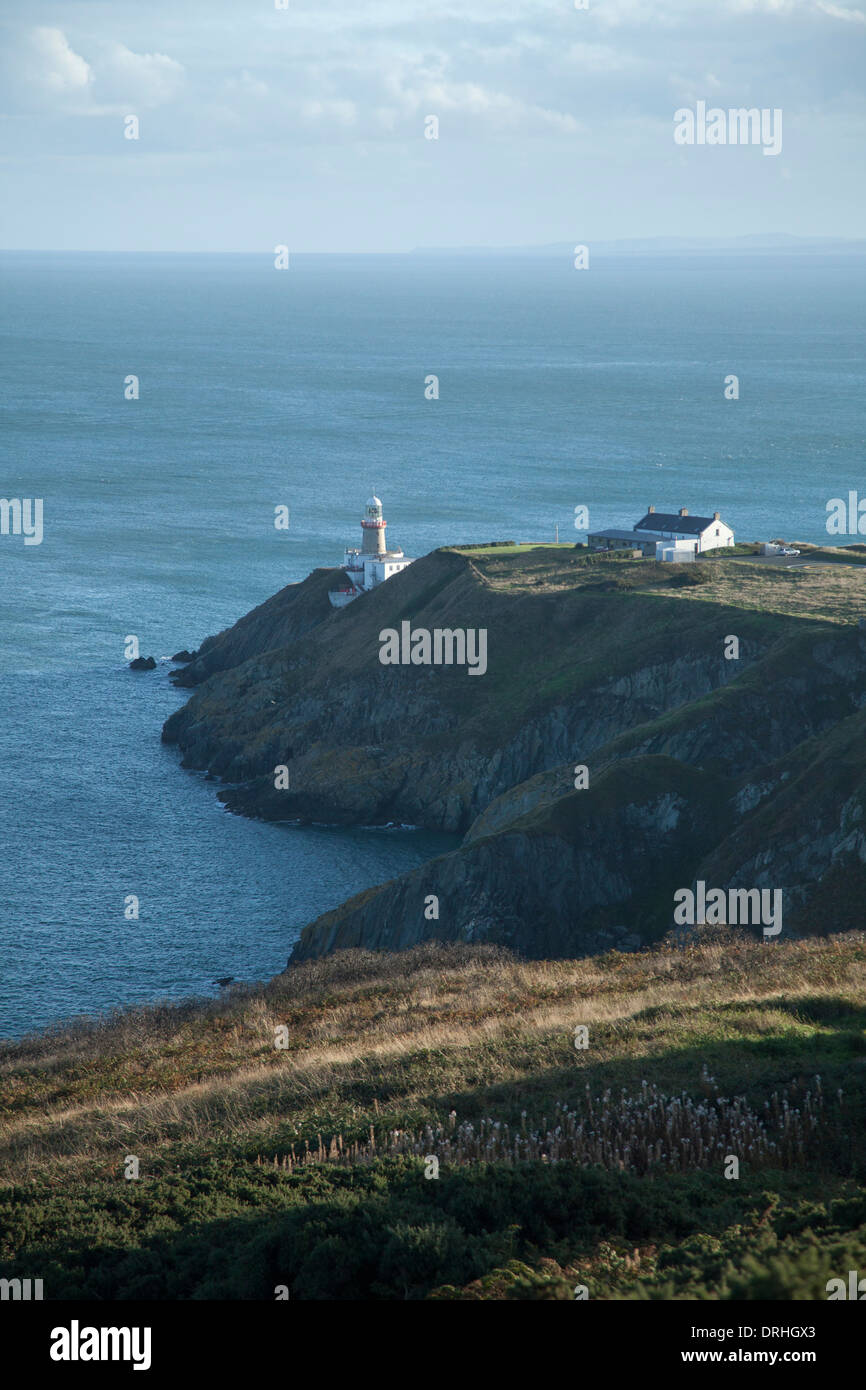 View over Baily Lighthouse, Howth Peninsula, County Dublin, Ireland. Stock Photo