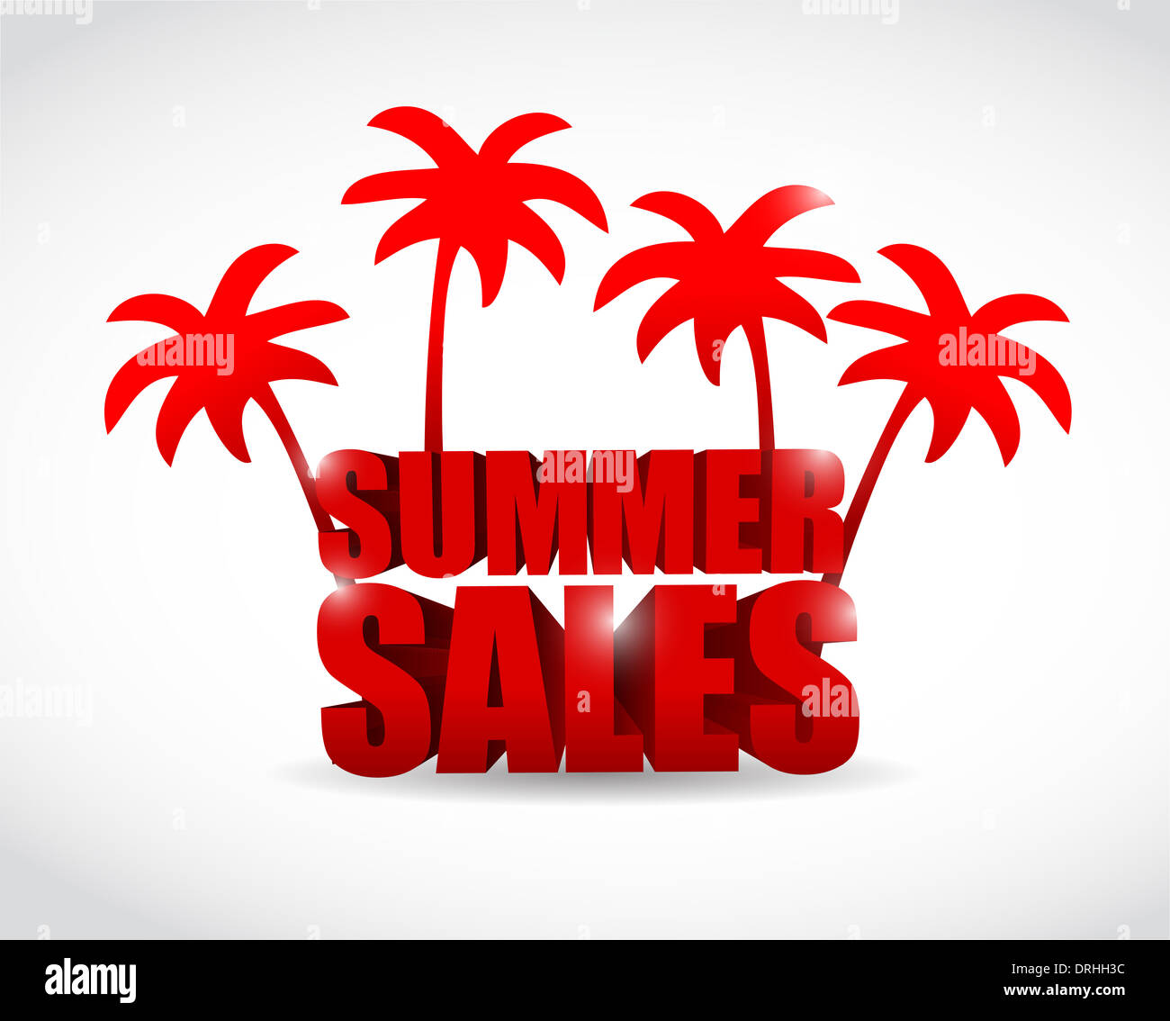 summer sale sign illustration design over a white background stock