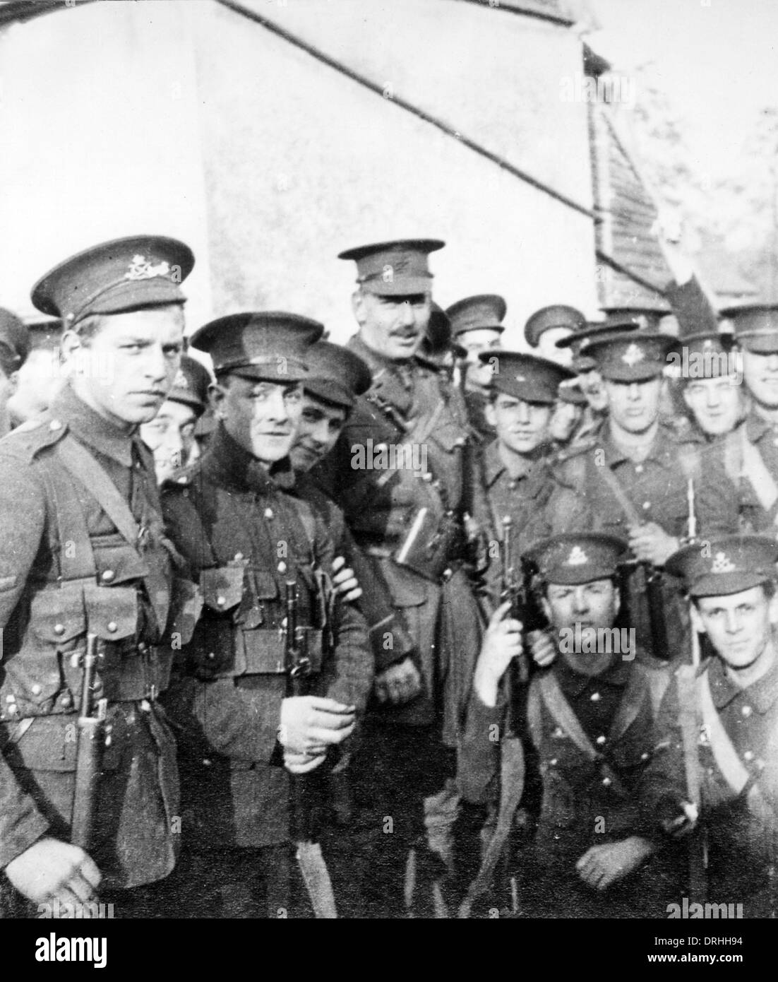 Group of British soldiers, WW1 - Stock Image