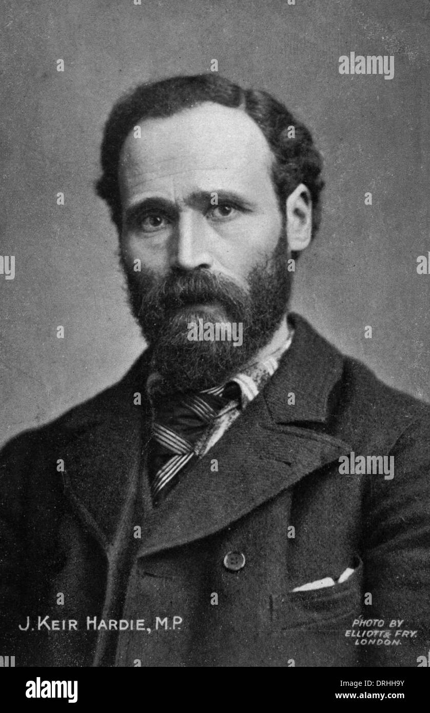 Portrait photograph of James Keir Hardie - Stock Image