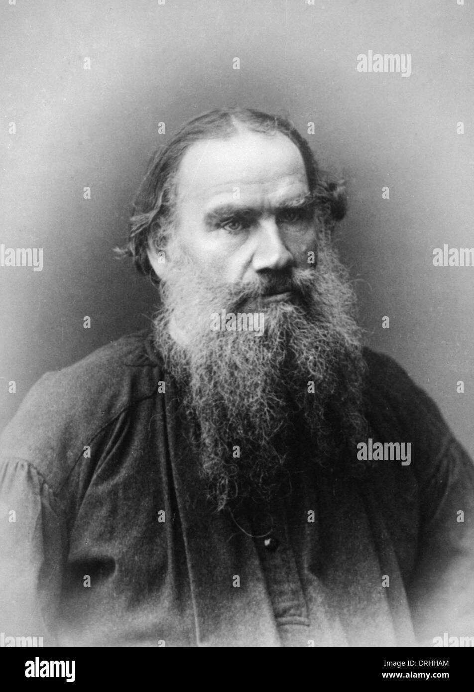 Portrait photograph of Leo Tolstoy - Stock Image