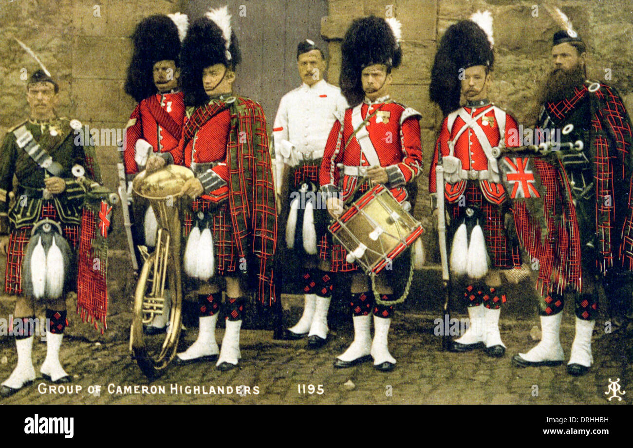 A group of Cameron Highlanders - Stock Image