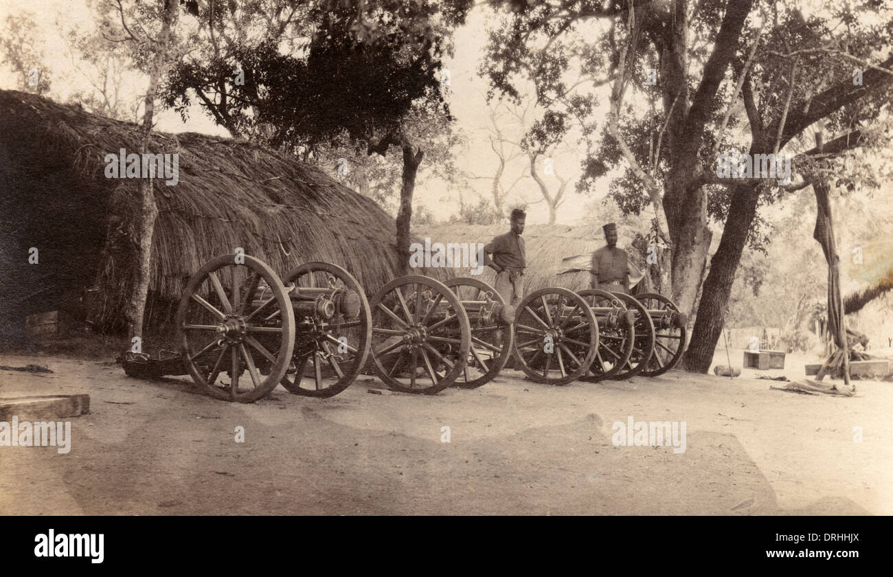 Gun parts of ANR on Rufiji River, East Africa, WW1 - Stock Image