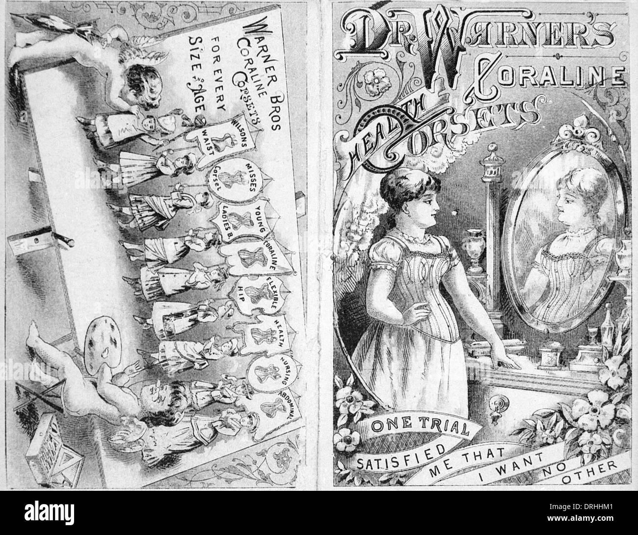 Dr Warners Coraline health corsets - Stock Image