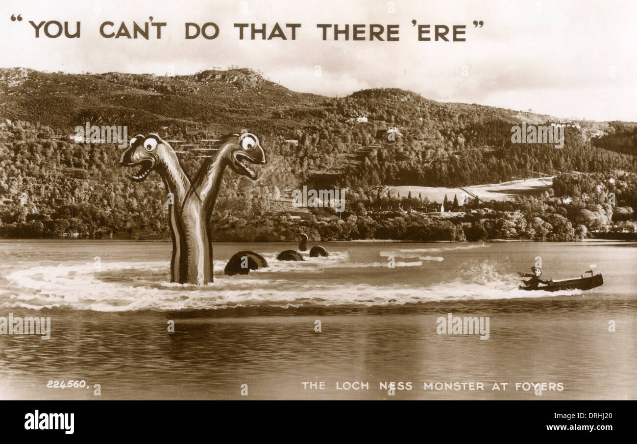 The Loch Ness Monster at Foyers. - Stock Image