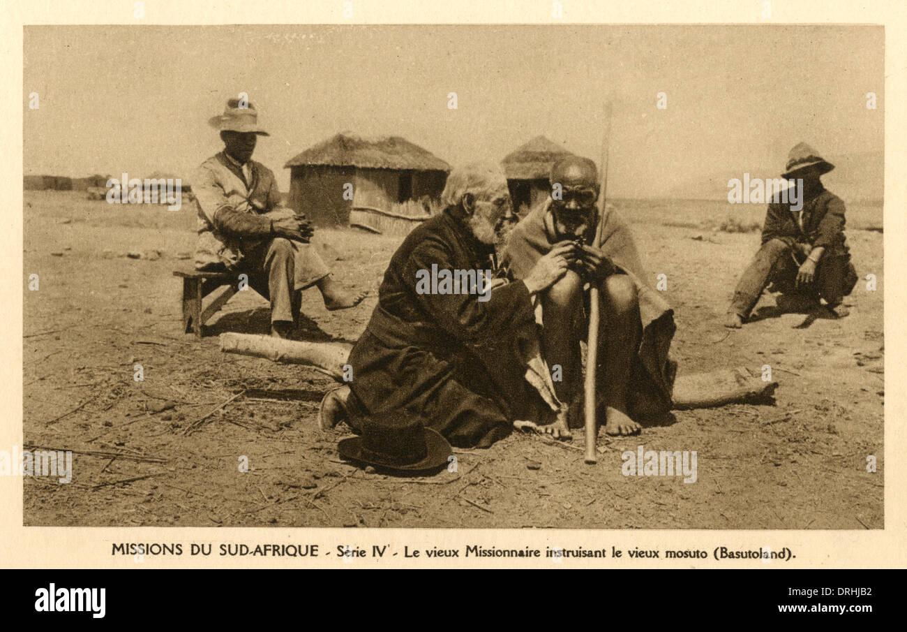 South Africa - Elderly Missionary - Basutoland - Stock Image
