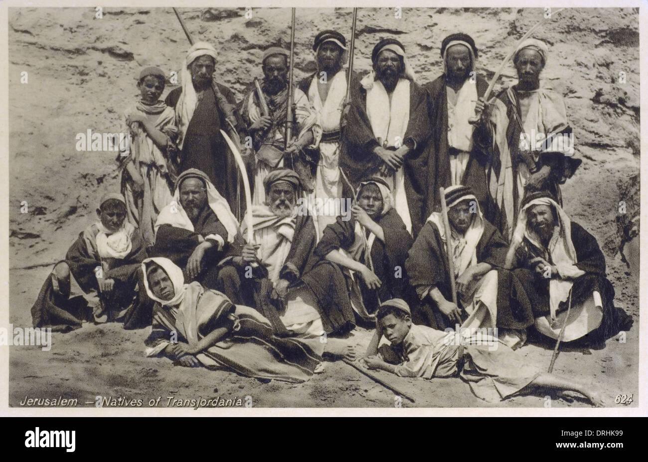 natives of transjordania nr jerusalem israel stock photo