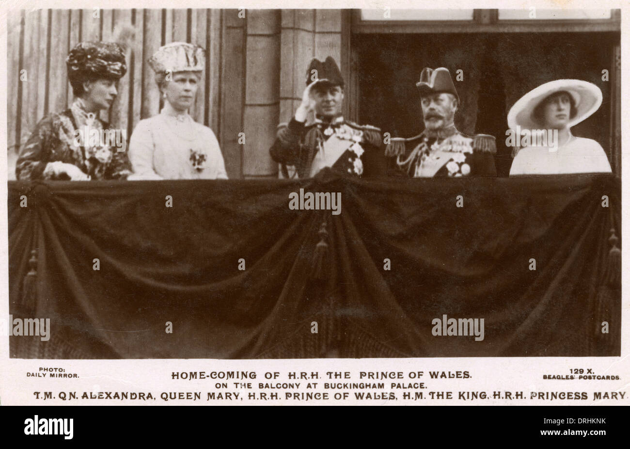 HRH Prince of Wales (future King Edward VIII) - home-coming - Stock Image