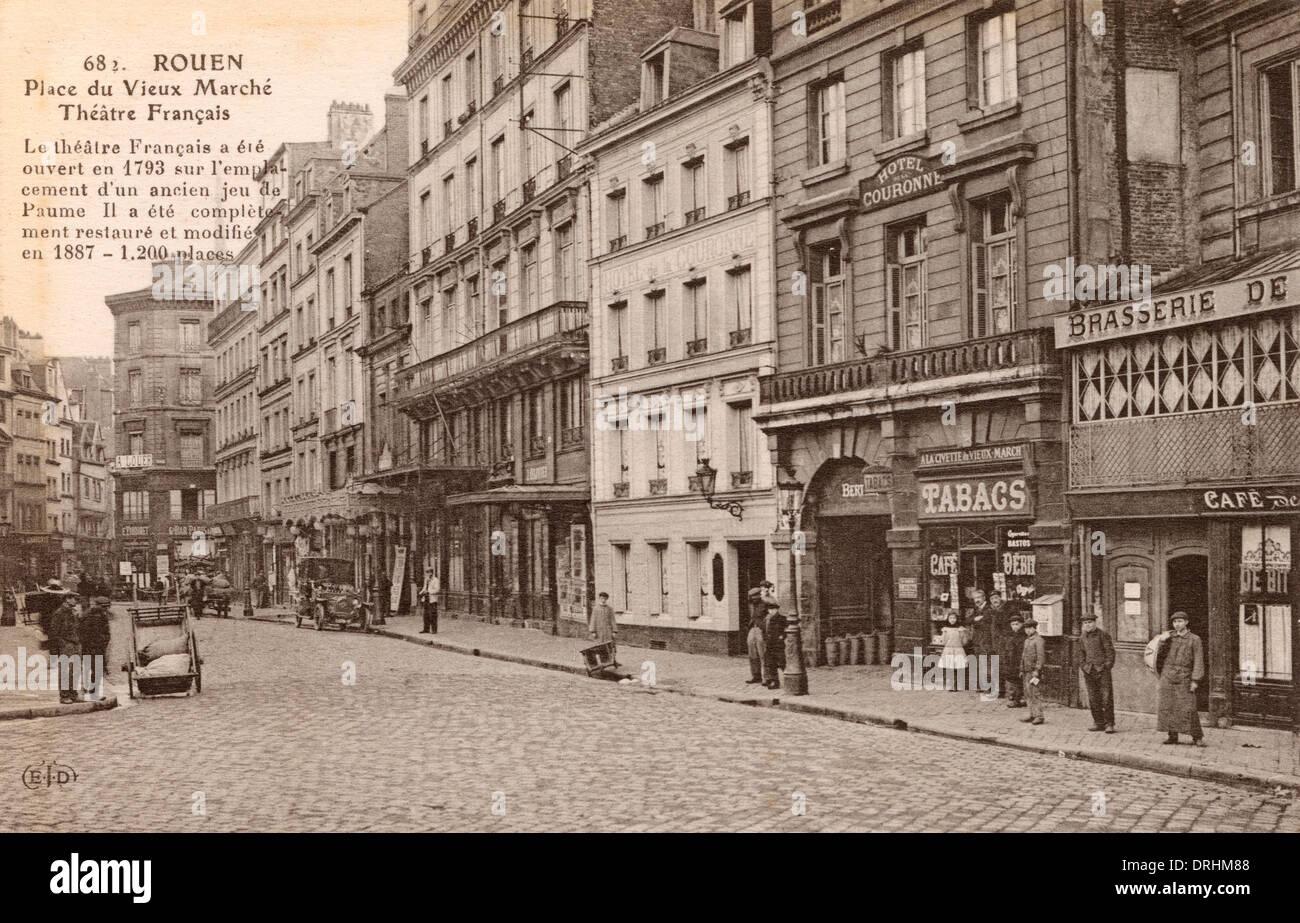 Rouen, France - Place du Vieux Marche - Stock Image