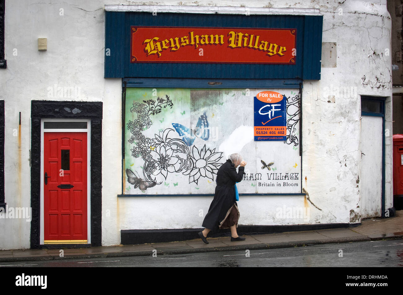 Experiencing British summertime at Heysham Village near Morecambe,Lancashire,UK. Stock Photo
