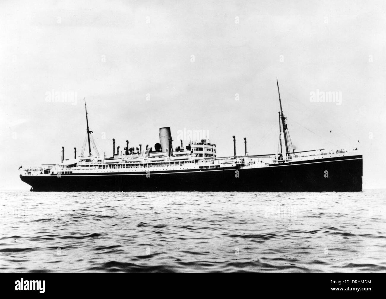 HMS Jervis Bay, armed merchant cruiser, WW2 - Stock Image