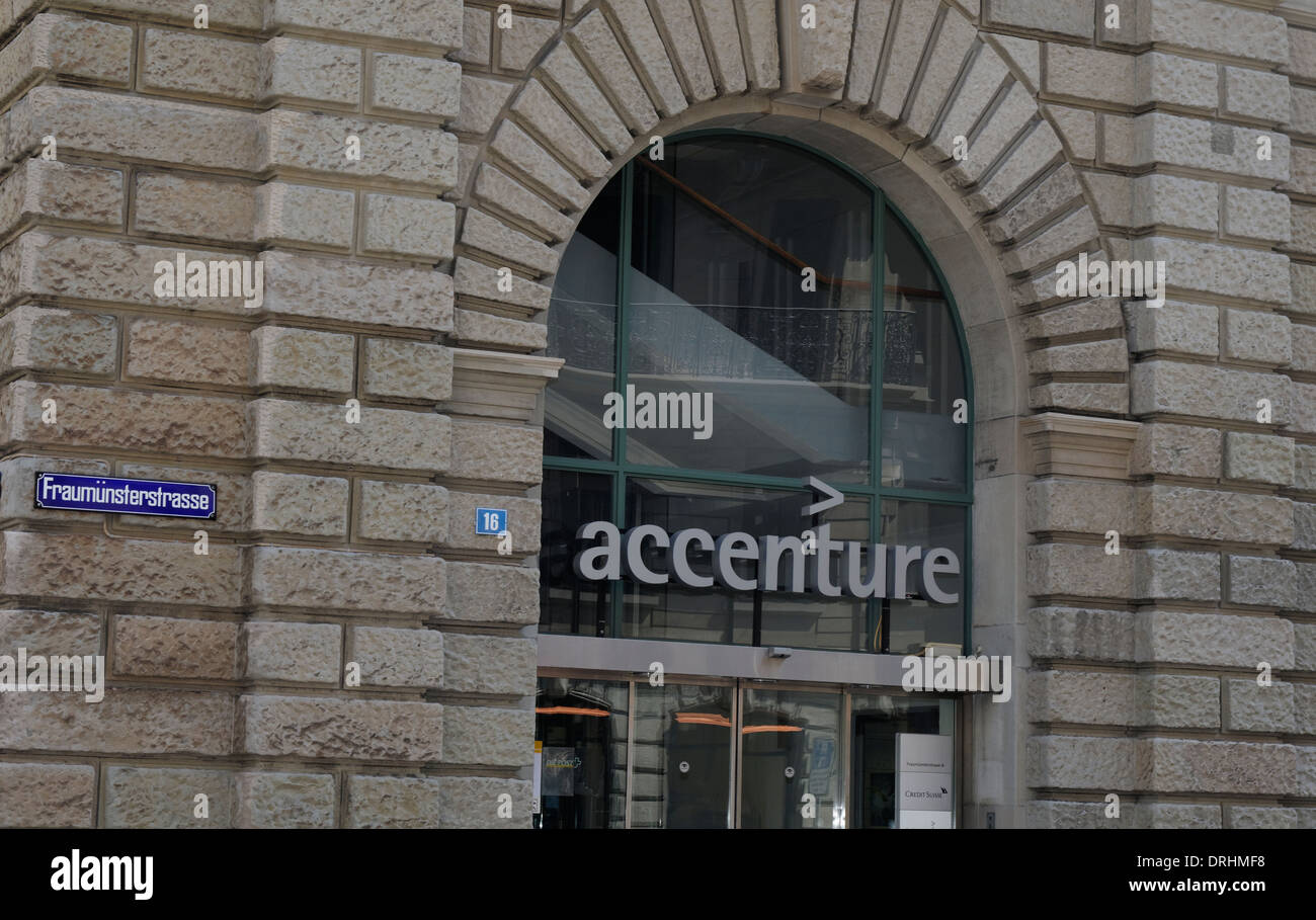 Zurich office of Accenture, the global consultancy Stock