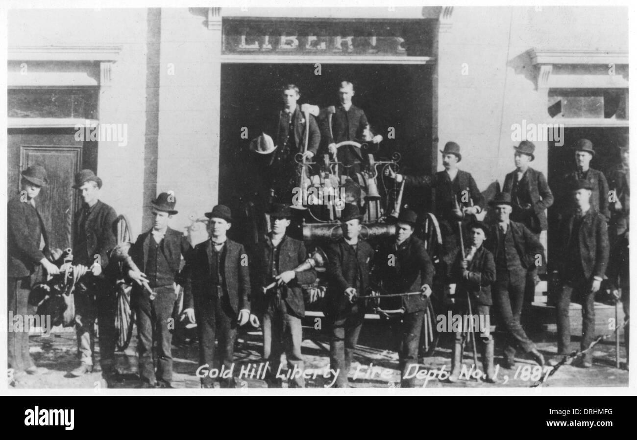 Gold Hill Liberty Fire Dept No. 1, Virginia City, USA - Stock Image