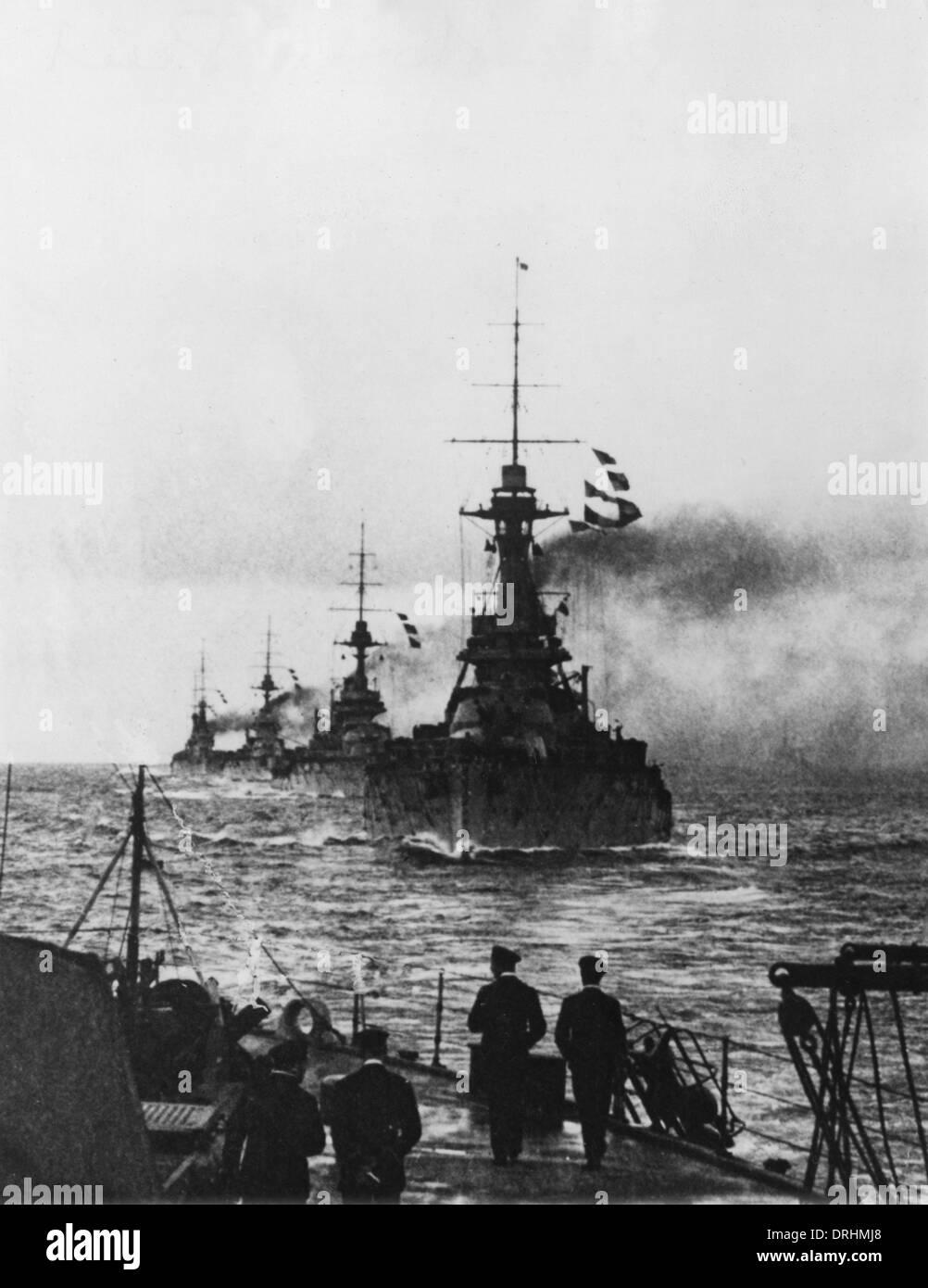 Ships of the British Grand Fleet, WW1 - Stock Image