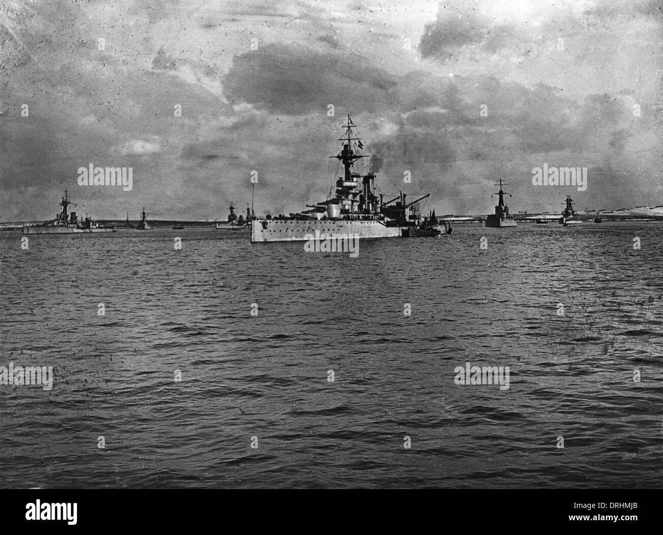 HMS Ajax, British light cruiser, WW2 - Stock Image