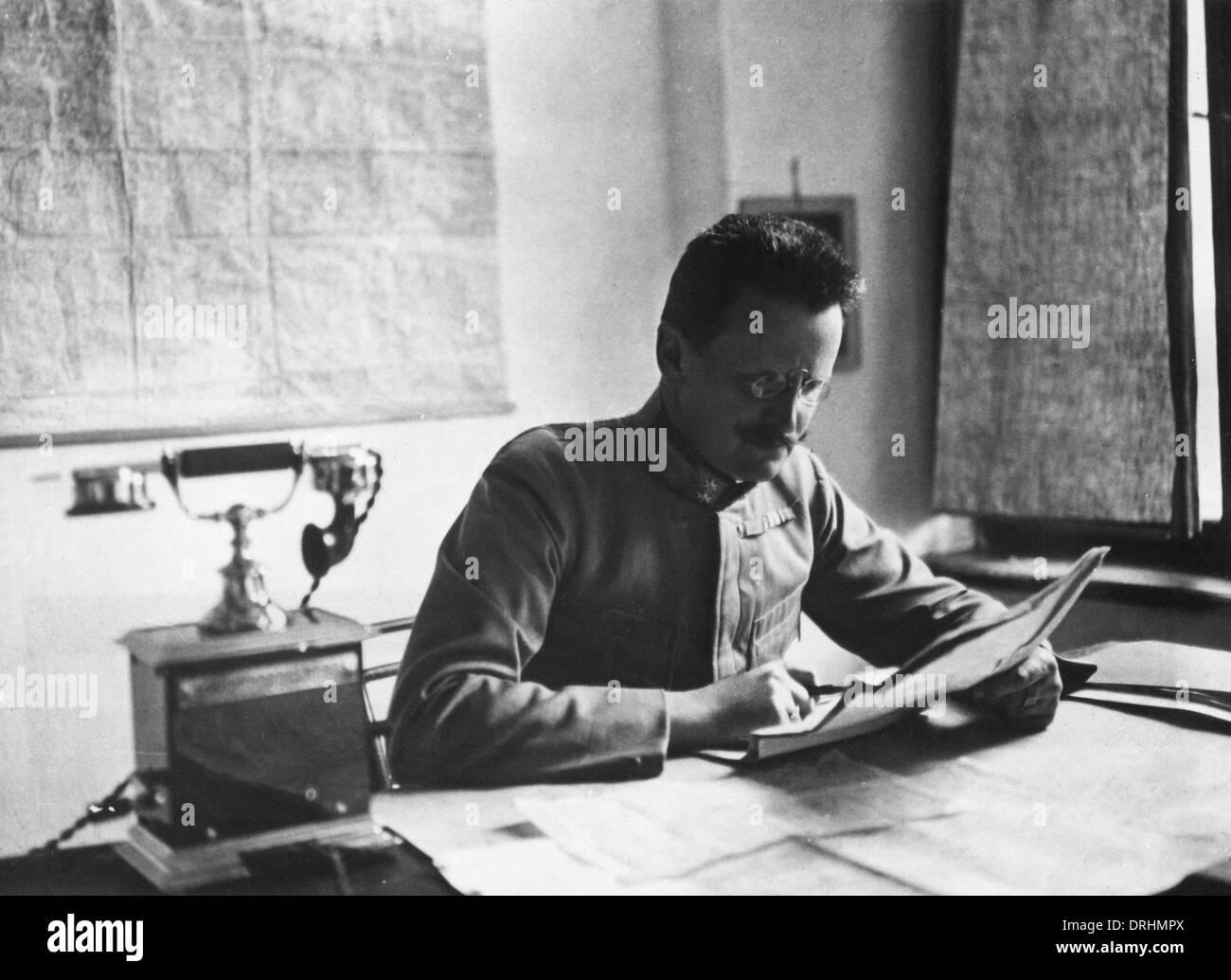 Oberleutnant Steurer, German army Chief of Staff, WW1 - Stock Image