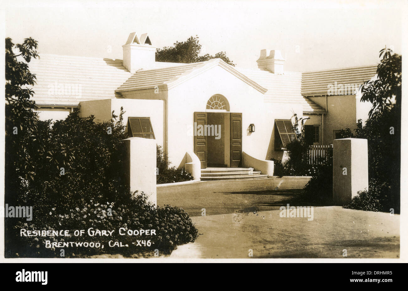 Residence of Gary Cooper, Brentwood, California, USA - Stock Image