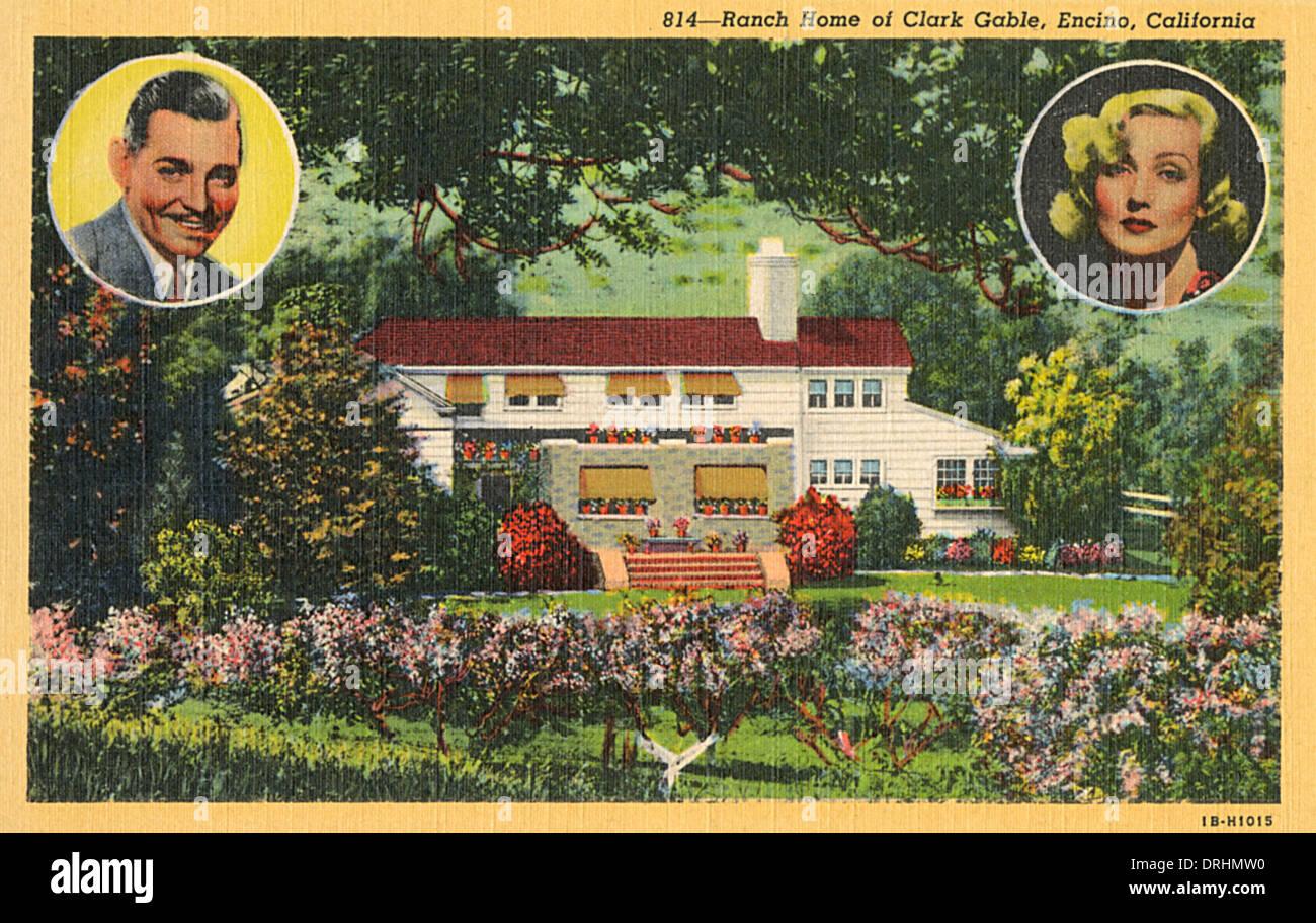 Ranch home of Clark Gable, Encino, California, USA - Stock Image