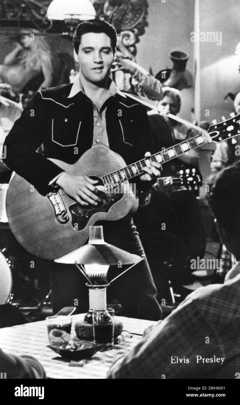 Elvis Presley, American musician and film star - Stock Image