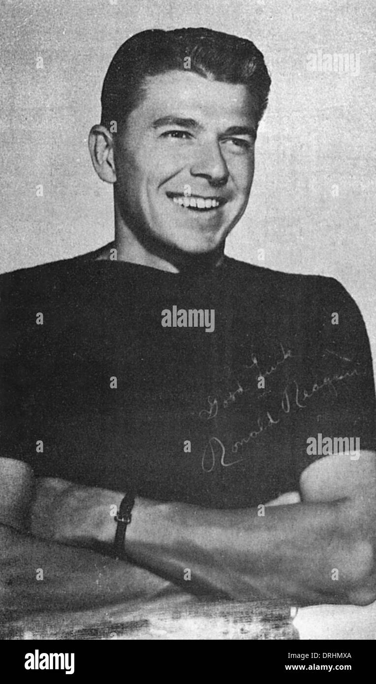 Ronald Reagan, American film star and later President - Stock Image