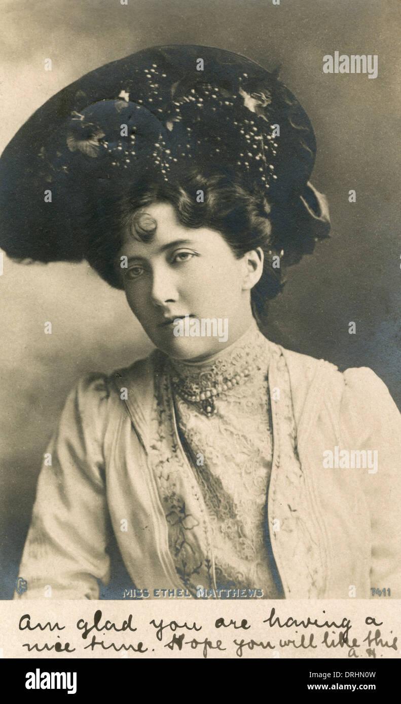 Ethel Matthews, musical comedy actress - Stock Image