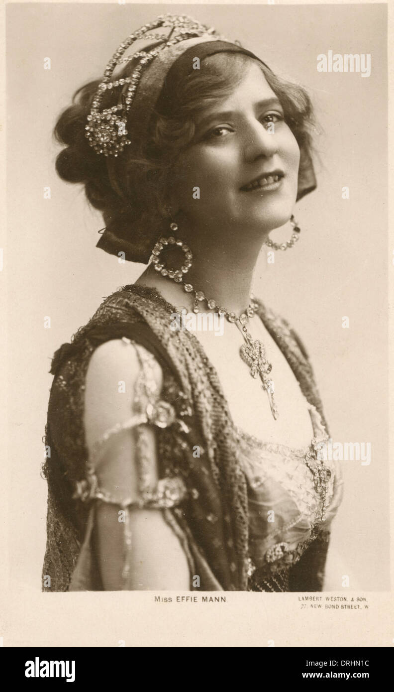 Effie Mann, Edwardian actress, in costume - Stock Image