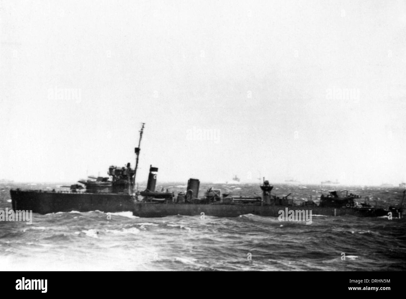 HMS Walker, British destroyer, WW1 and WW2 - Stock Image
