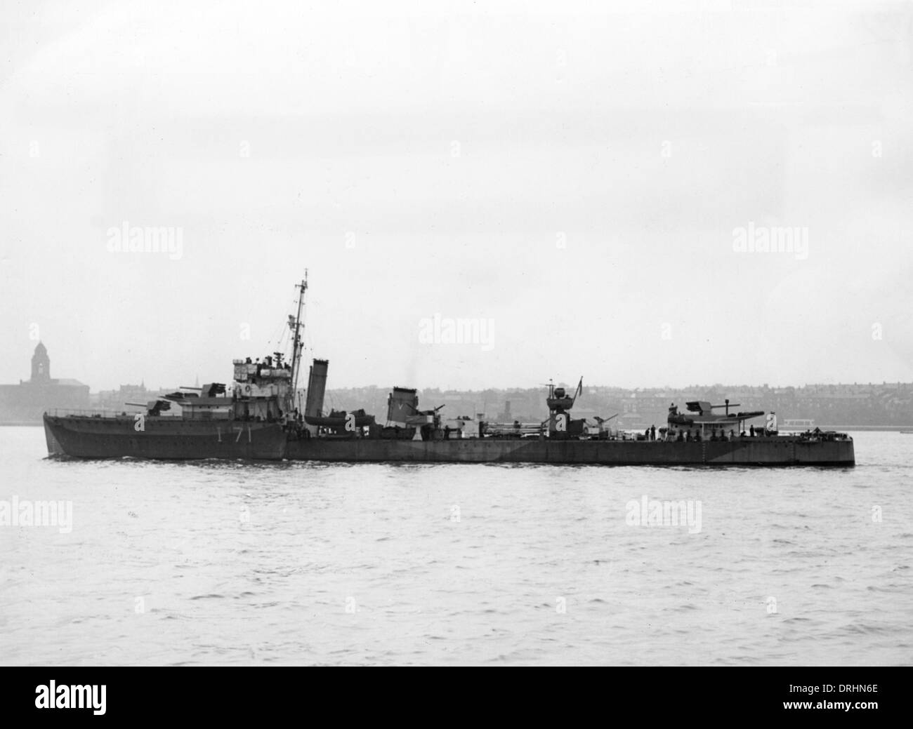 HMS Volunteer, British destroyer, WW2 - Stock Image