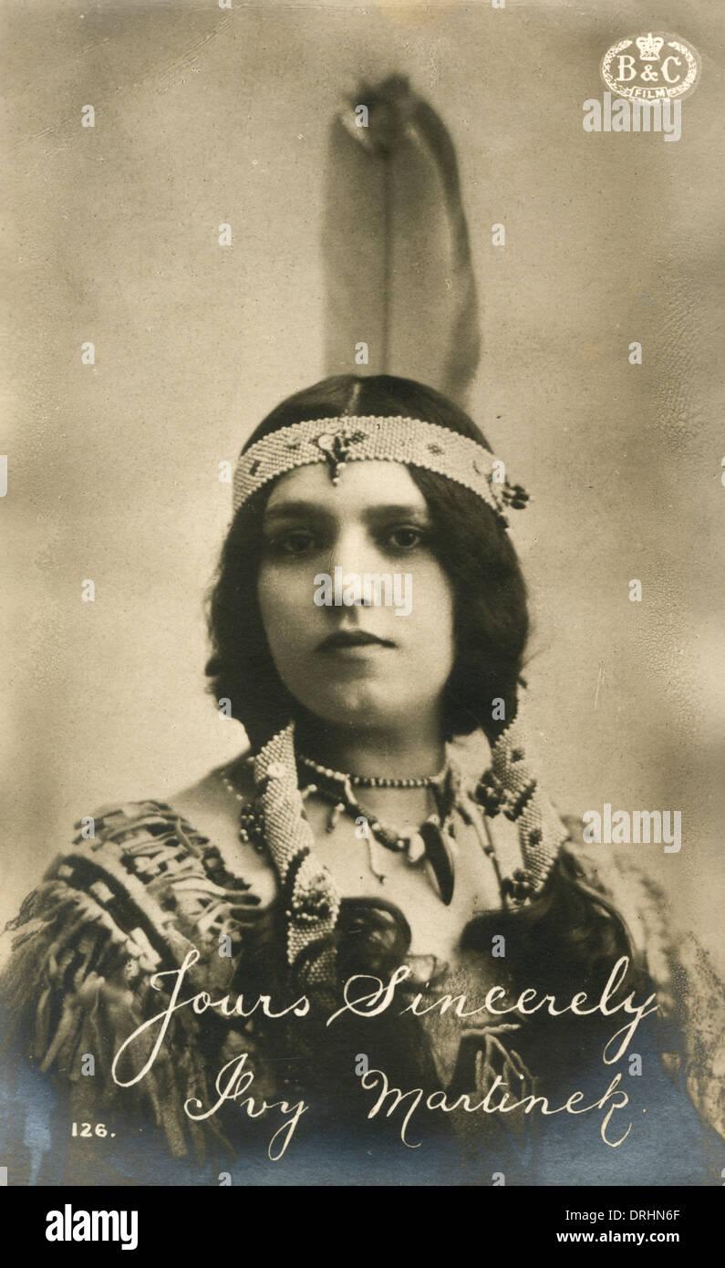 Ivy Martinek - Silent Movie Star - Stock Image