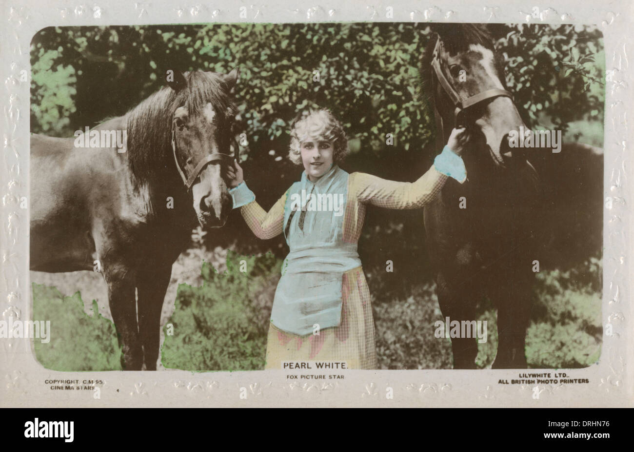 Pearl Fay White - American film actress and stunt star - Stock Image
