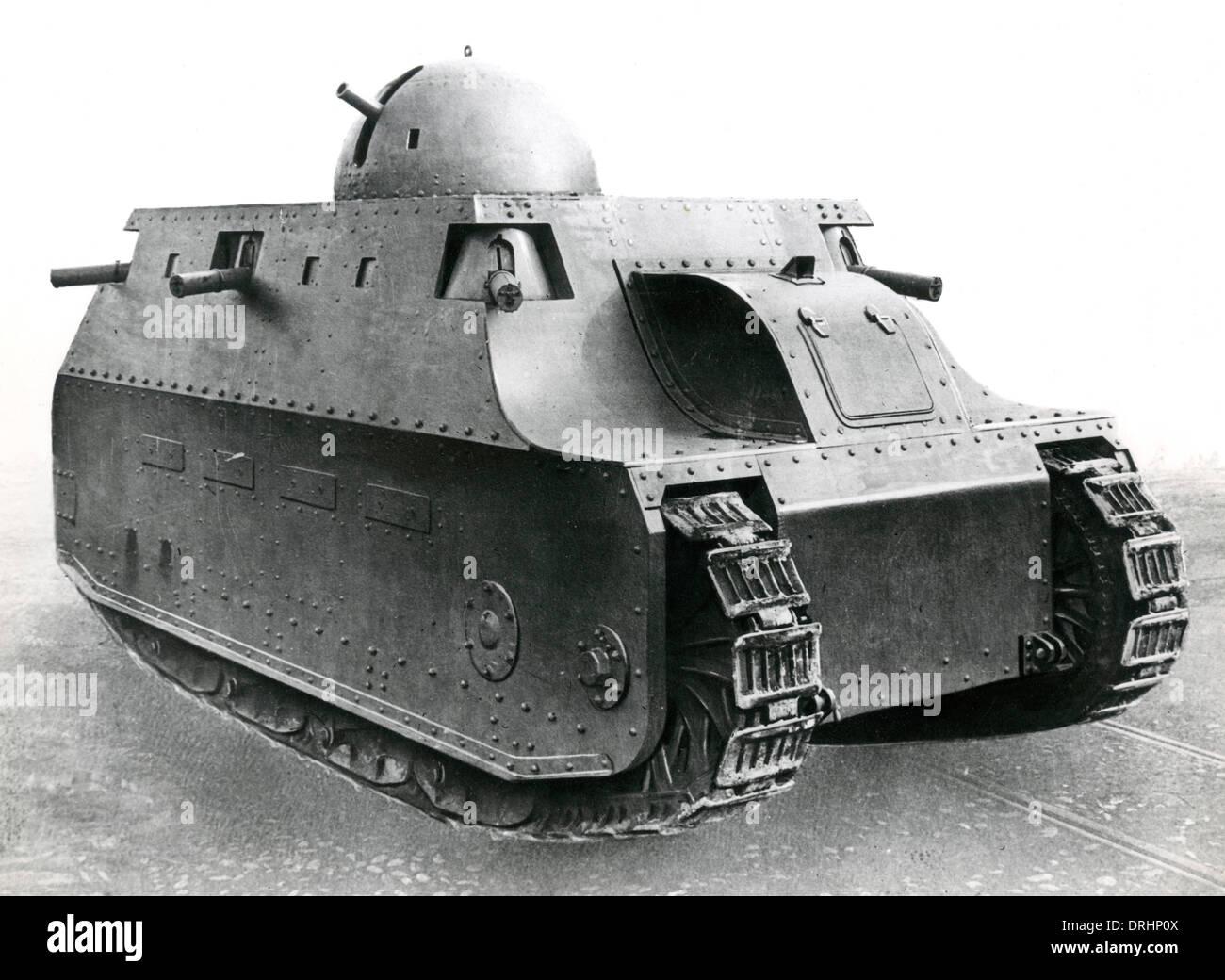 Fiat 2000 Italian heavy tank, WW1 - Stock Image