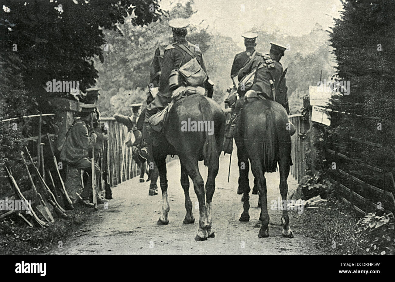 British Cavalry Scouts - World War One - Stock Image